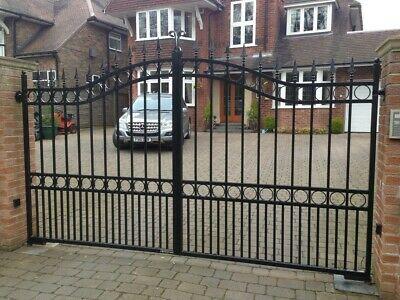Double Wrought Iron Gates